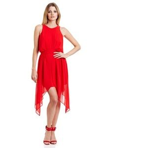 BCBGeneration Asymmetrical Red Dress Size 2